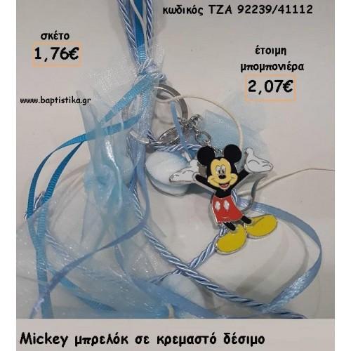 ΜΙΚΥ MICKEY ΜΕΤΑΛΛΙΚΟ ΜΠΡΕΛΟΚ ΓΙΑ ΜΠΟΜΠΟΝΙΕΡΕΣ ΒΑΠΤΙΣΗΣ - ΔΩΡΑ ΕΟΡΤΩΝ - ΠΑΡΤΥ ΤΖΑ-92239/41112 2.07€!!!